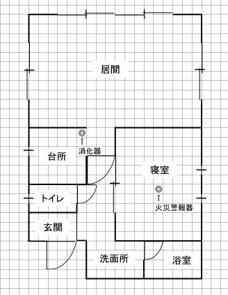 バンガローA棟(見取図)